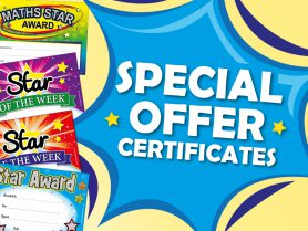 Front Banner Images that says Special Offer School Certificates