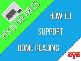 "Front Blog banners that says ""How to Support Home Reading"""