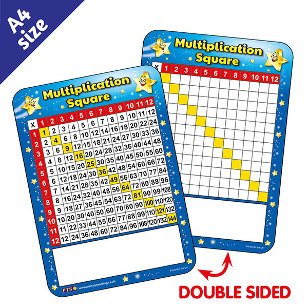 New PTS Whiteboards - Multiplication Square