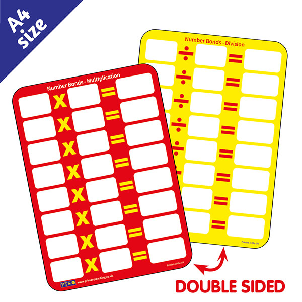 New PTS Whiteboards - Multiplication and Division