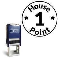 1 House Point Stamper - Black Ink (25mm)