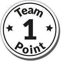 1 Team Point Stamper - Black Ink (25mm)
