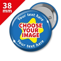 10 Personalised Design Your Own 38mm Badges