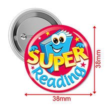 10 Super Reading 38mm Button Badges