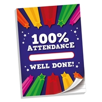 '100% Attendance' 50 Page A4 Lined Notepad