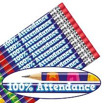 100% Attendance Pencils (12 Pencils)