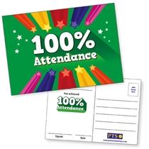 100% Attendance Postcards Home (20 Postcards - A6)