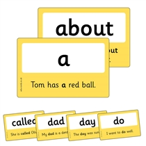 100 High Frequency Words for Home Learning on Laminated Cards (86mm x 54mm)