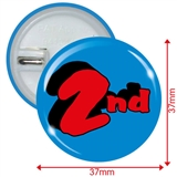 Pack of 10 2nd Button Badges