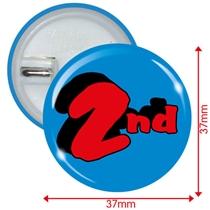2nd Button Badges (10 Badges - 37mm)