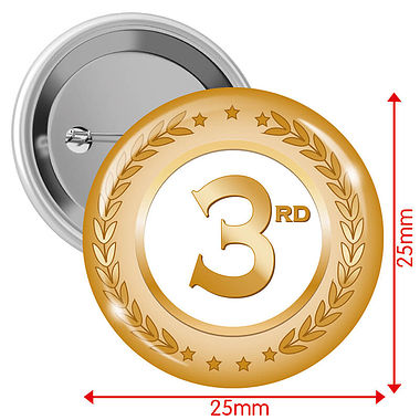 3rd Badges - Bronze (10 Badges - 25mm)