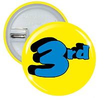 3rd Button Badges (10 Badges - 37mm)