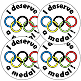 I Deserve A Medal Stickers (35 Stickers - 37mm)