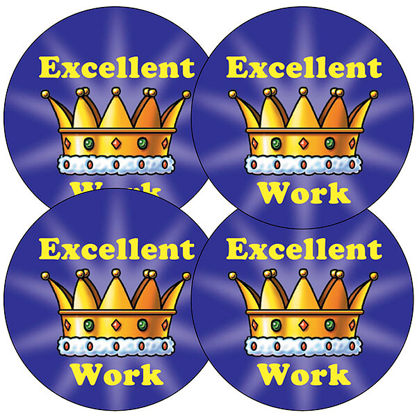 excellent work crown sticker 37mm x 35 pupil reward