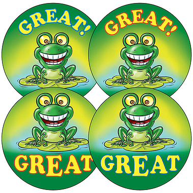 Great Frog Stickers (35 Stickers - 37mm)