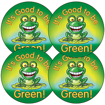 Sheet of 35 It's Good to be Green 37mm Circular Stickers
