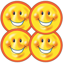 Smiley Face Stickers (35 Stickers - 37mm)