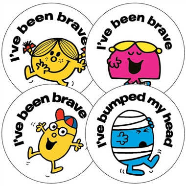 First Aid Stickers - Mr Men & Little Miss (35 Stickers - 37mm)