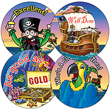 Pirate Stickers (35 Stickers - 37mm)