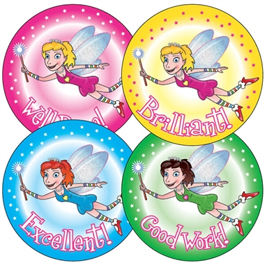 Fairy Stickers (35 Stickers - 37mm)