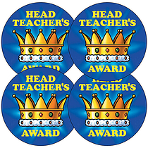 Sheet of 35 Head Teacher's Award 37mm Circular Stickers