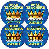 Sheet of 35 Head Teacher's Award 37mm Circular Stickers