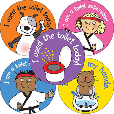 Pedagogs Toilet Training Stickers (35 Stickers - 37mm)
