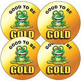 Sheet of 35 Good to be Gold 37mm Circular Stickers