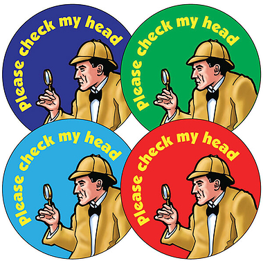 Mixed 'Check my Head' 37mm Stickers x 35