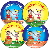 I Took Part Today Stickers - Sports Day (35 Stickers - 37mm)