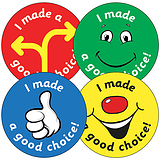 Sheet of 35 I Made a Good Choice 37mm Circular Stickers