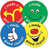Sheet of 35 I Made a Good Choice 37mm Circular Stickers