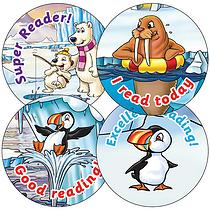 Reading Stickers - Polar Scene (35 Stickers - 37mm)