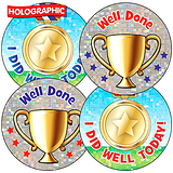 Holographic Sports Day Stickers (37mm x 35)