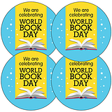 World Book Day Stickers (35 Stickers - 37mm)