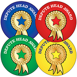 Depute Head Award Stickers (35 Stickers - 37mm)