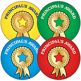 Principal's Award Stickers (35 Stickers - 37mm)