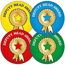 Mixed Deputy Head Award 37mm Stickers x 35