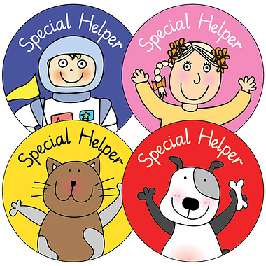 Pedagogs 'Special Helper' 37mm Stickers x 35