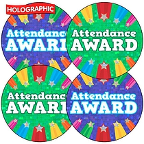 35 x Attendance Award Sparkly Stickers