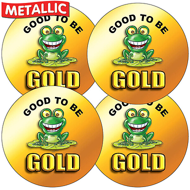 Metallic Good to be Gold Stickers (35 Stickers - 37mm)