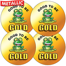 35 x Good to be Gold Metallic Stickers
