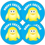 Happy Easter Chick Stickers (35 x 37mm)