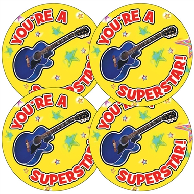 You're A Superstar Stickers (35 Stickers - 37mm)