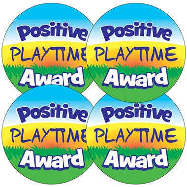 Positive Playtime Award Stickers (35 Stickers - 37mm)