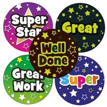 GLOW IN THE DARK Reward Stickers (35 Stickers - 37mm)