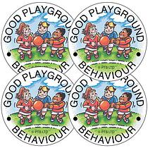 Good Playground Behaviour Stickers (35 Stickers - 37mm)