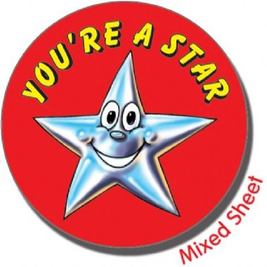 You're a Star Stickers (35 Stickers - 37mm)