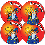Excellent Stickers - Wizard (35 Stickers - 37mm)