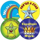 Sheet of 35 Mixed 37mm Circular Stickers